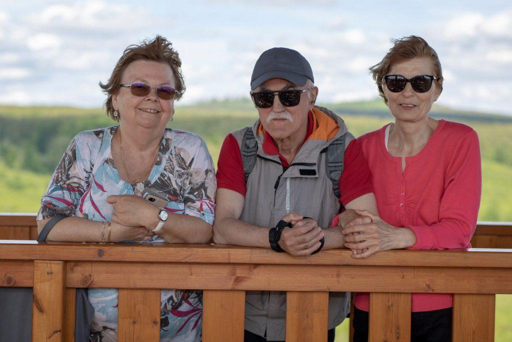 Apu, anyu és Ildi néni a Molnár Gábor kilátóban