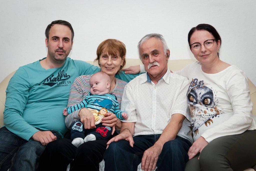 Apu szülinapja - közös kép