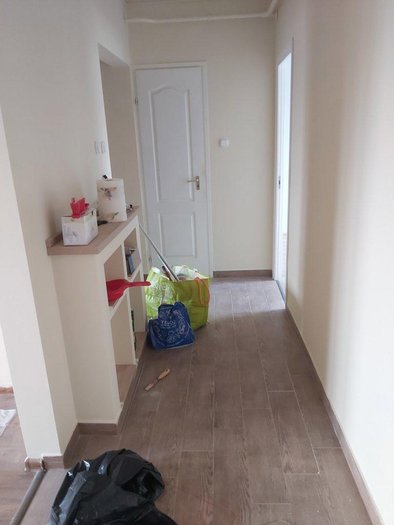 Lakás felújítás - előszoba kifestése