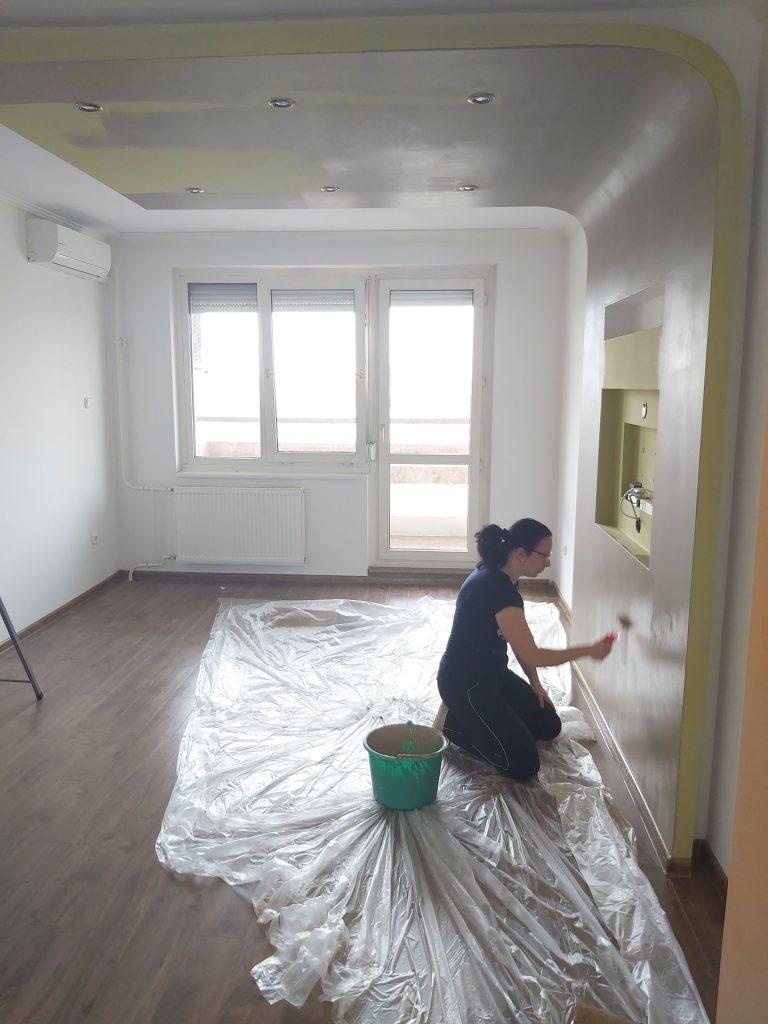 Lakás felújítás - nappali kifestése