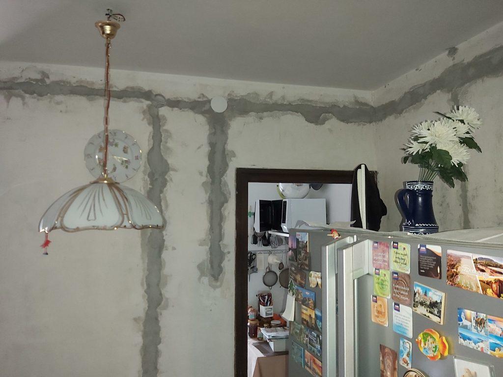bemarás kijavítása a nappaliban