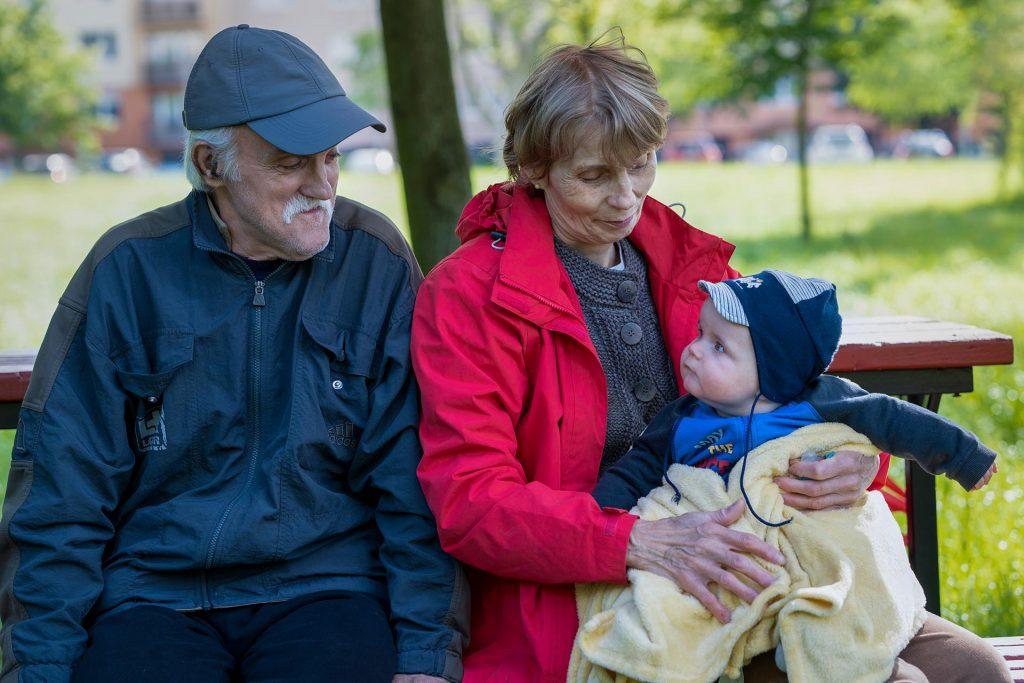 Danika a papával és a mamával a Csónakázó tónál